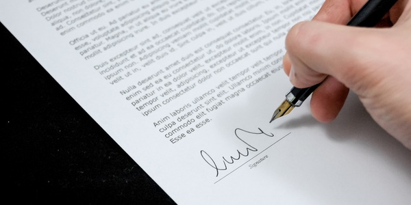 Document agreement documents sign 48195